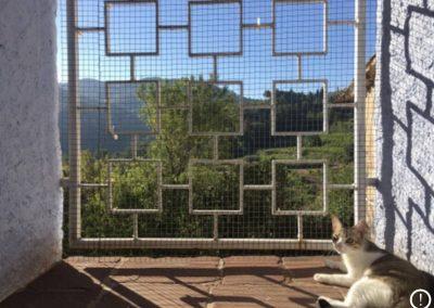 Espacio habilitado para alojar a gatos en la residencia Fontfreda